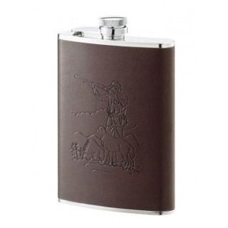 FLASQUE 240ML INOX CUIR DECOR CHASSE