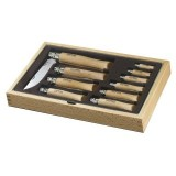 Vitrine 10 couteaux Opinel Inox