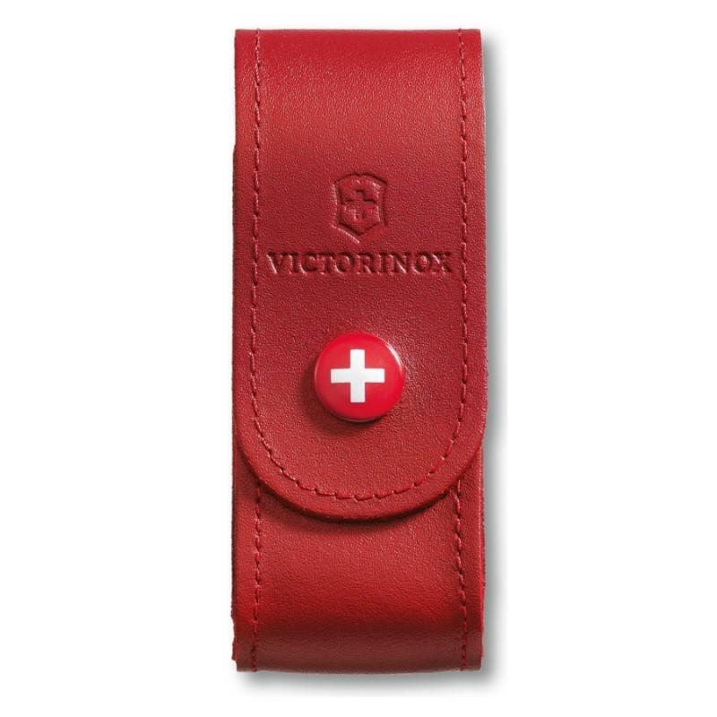 Etui Victorinox 6 à 14 pièces cuir rouge