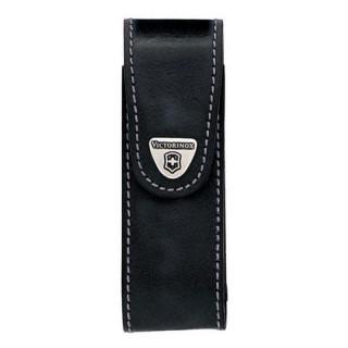 Etui Victorinox 4 à 10 pièces cuir noir clip pivotant