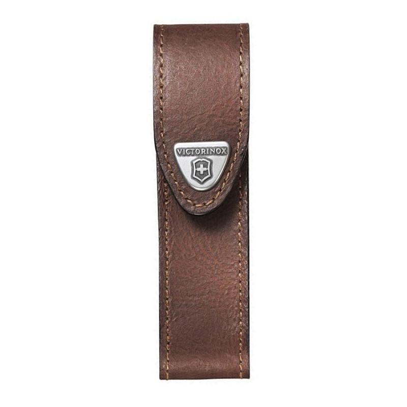 Etui Victorinox 4 à 10 pièces cuir marron