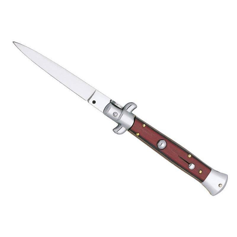 Couteau automatique stamina rouge 12 cm
